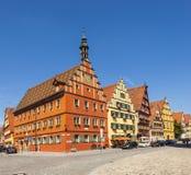 Berühmte alte romantische mittelalterliche Stadt von Dinkelsbuehl Lizenzfreie Stockbilder