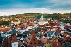 Berühmte alte Stadt Cesky Krumlov in der Tschechischen Republik Lizenzfreie Stockbilder