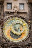 Berühmte astronomische Borduhr in Prag, Tschechische Republik Lizenzfreies Stockfoto