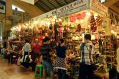 Berühmte Ben Thanh Market in Ho Chi Minh City Lizenzfreies Stockbild