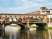 Berühmte Brücke Ponte Vecchio in Florenz, Italien Lizenzfreie Stockfotografie