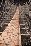 Berühmte Carrick-a-Rede Seil-Brücke Nordirland lizenzfreies stockbild