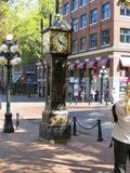 Berühmte Dampf-Uhr in Seattle, Washington stockbild