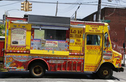 Berühmte Desi Food Truck in Ost-Williamsburg in Brooklyn Lizenzfreies Stockbild