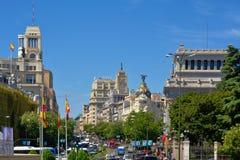 Berühmte Gebäude von Madrid stockbilder
