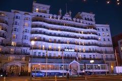 Berühmte Grand Hotel in Brighton Seafront - BRIGHTON, VEREINIGTES KÖNIGREICH - 27. FEBRUAR 2019 lizenzfreie stockbilder