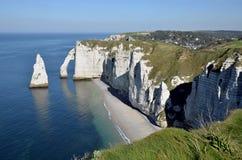 Berühmte Klippen von Etretat in Frankreich Lizenzfreie Stockbilder