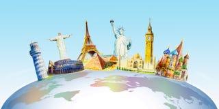 Berühmte Marksteine der Welt stock abbildung