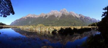 Berühmte Mirror Seen, Neuseeland Stockbilder