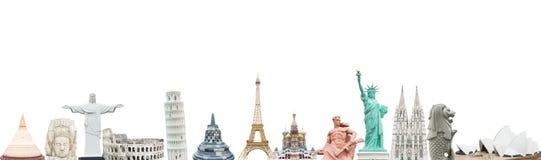 Berühmte Monumente der Welt stockbild