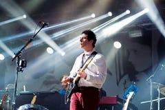 Berühmte Musik der Schönheit und Sebastians versieht von Glasgow im Konzert an Primavera-Ton 2015 mit einem Band Lizenzfreie Stockfotos
