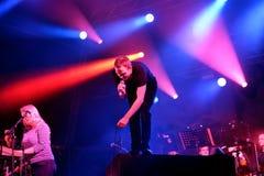 Berühmte Musik der Schönheit und Sebastians versieht von Glasgow im Konzert an Primavera-Ton 2015 mit einem Band Stockbild