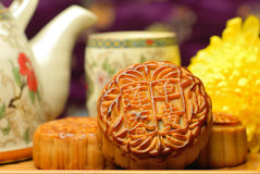 Berühmte Nahrung des Chinesen--Mondkuchen Stockfotografie