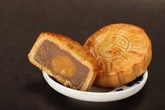 Berühmte Nahrung des Chinesen--Mondkuchen stockbild