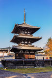Berühmte Pagode drei von Kofukuji-Tempel in Nara Lizenzfreie Stockfotografie