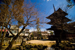 Berühmte Pagode drei von Tempel Hida Kokubunji Lizenzfreie Stockfotos