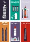 Berühmte Städte Stockbild
