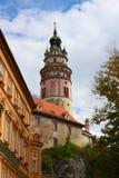 Berühmte Stadt, cesky krumlov an Sommer 2011 Lizenzfreie Stockfotos