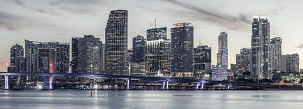 Berühmte Stadt von Miami, spezielle photographische Verarbeitung Stockbilder