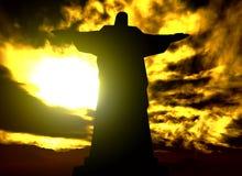 Berühmte Statue des Christ lizenzfreie abbildung