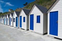 Berühmte Strand-Hütten in Trouville Lizenzfreie Stockfotografie