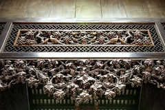 Berühmte Touristenattraktionen Guangzhous, China, ererbte Halle Chens, geschnitzt mit Holz schnitzten Guangdong-Sympathieträger,  Stockbilder