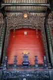 Berühmte Touristenattraktionen Guangzhous, China, ererbte Halle Chens, geschnitzt mit Holz schnitzten Guangdong-Sympathieträger,  Lizenzfreie Stockfotografie