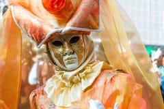 Berühmte traditionelle Dekoration von Venezia, Italien stockbilder