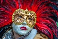 Berühmte traditionelle Dekoration von Venezia, Italien stockfotografie