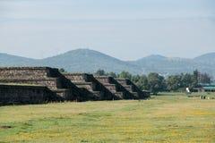 Berühmte und majestuous mexikanische archäologische Fundstätte Lizenzfreie Stockbilder