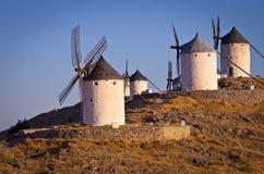 Berühmte Windmühlen in Consuegra Stockbild
