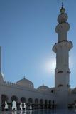 Berühmter Abu Dhabi Sheikh Zayed Mosque Lizenzfreies Stockbild