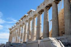 Berühmter alter Tempel des Parthenons in Athen stockfotografie