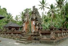 Berühmter Bali-Grenzstein stockbild
