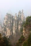 Berühmter Berg Zhangjiajie des Chinesen lizenzfreies stockfoto