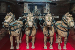 Berühmter Bronzekampfwagen in Xian, China Stockbilder