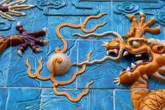 Berühmter chinesischer Drache Stockfotografie