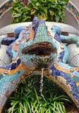 Berühmter Eidechsenbrunnen Gaudi Lizenzfreie Stockbilder