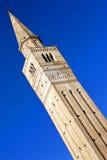 Berühmter Glockenturm der Heiligen Markierung in Pordenone, Italien Stockfoto