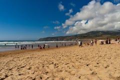 Berühmter Guincho Portugal Strand Lizenzfreie Stockfotografie
