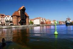Berühmter hölzerner Kran Gdansk-, Danzig, Polen Lizenzfreie Stockfotografie
