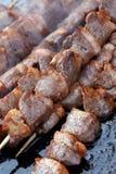 Berühmter Imbiß in Peking. kebab Lizenzfreie Stockfotografie