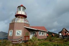 Berühmter Leuchtturm bei Kap Hoorn - der südlichste Punkt des Archipels von Tierra del Fuego Stockbilder