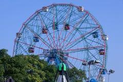 Berühmter Markstein Coney Islands - Wunder-Rad Ferris Wheel Lizenzfreies Stockfoto