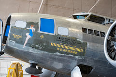 Berühmter Memphis Belle Restoration im Prozess Stockfotos
