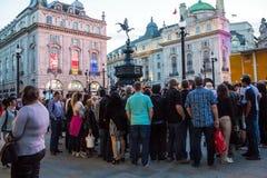 Berühmter Piccadilly-Zirkus, einer der bedeutenden Anziehungskraft von London Stockfotos