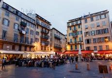 Berühmter Platz Rossetti, Nizza Stockbild