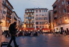 Berühmter Platz Rossetti, Nizza Stockfotografie