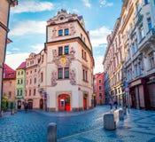 Berühmter Platz u. x28; UNESCO-heritage& x29; - alte Mitte von Prag Stockfotos