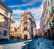 Berühmter Platz u. x28; UNESCO-heritage& x29; - alte Mitte von Prag Lizenzfreie Stockfotos